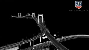 Pointcloud from 6T3 mobile mapping system